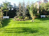 Затревяване на градини с тревна смеска