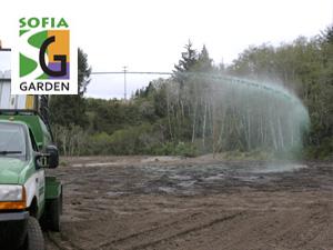 Затревяване на големи площи с хидропосев