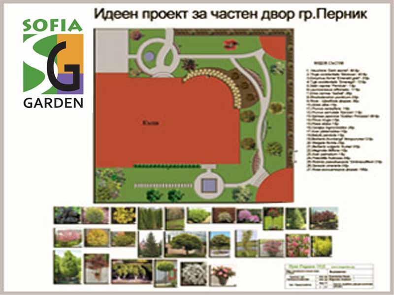 Проект за озеленяване на двор гр.Перник
