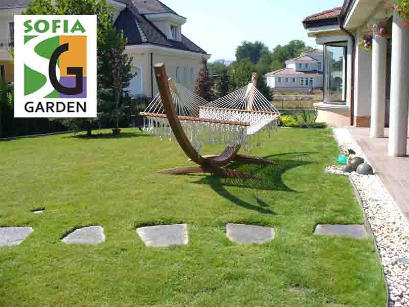 Изграден тревен чим в частен двор